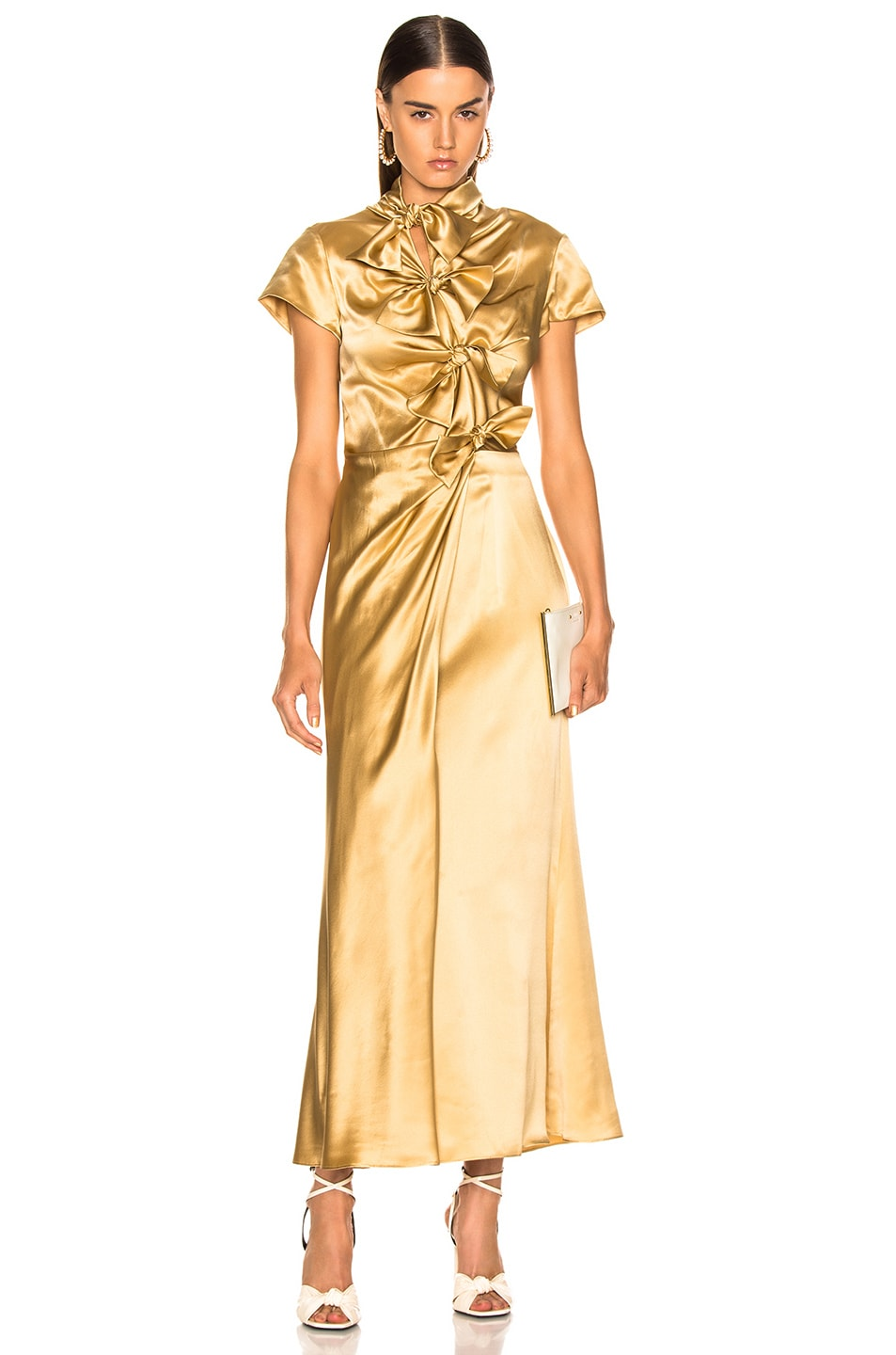 Image 1 of SALONI Kelly Dress XO in Light Gold