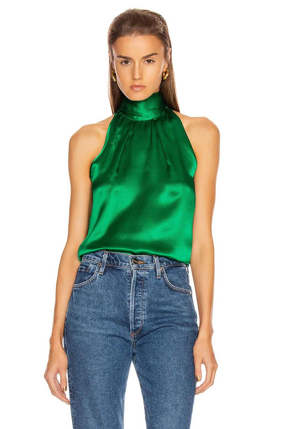 Image 1 of SALONI Michelle B Top in Emerald Green
