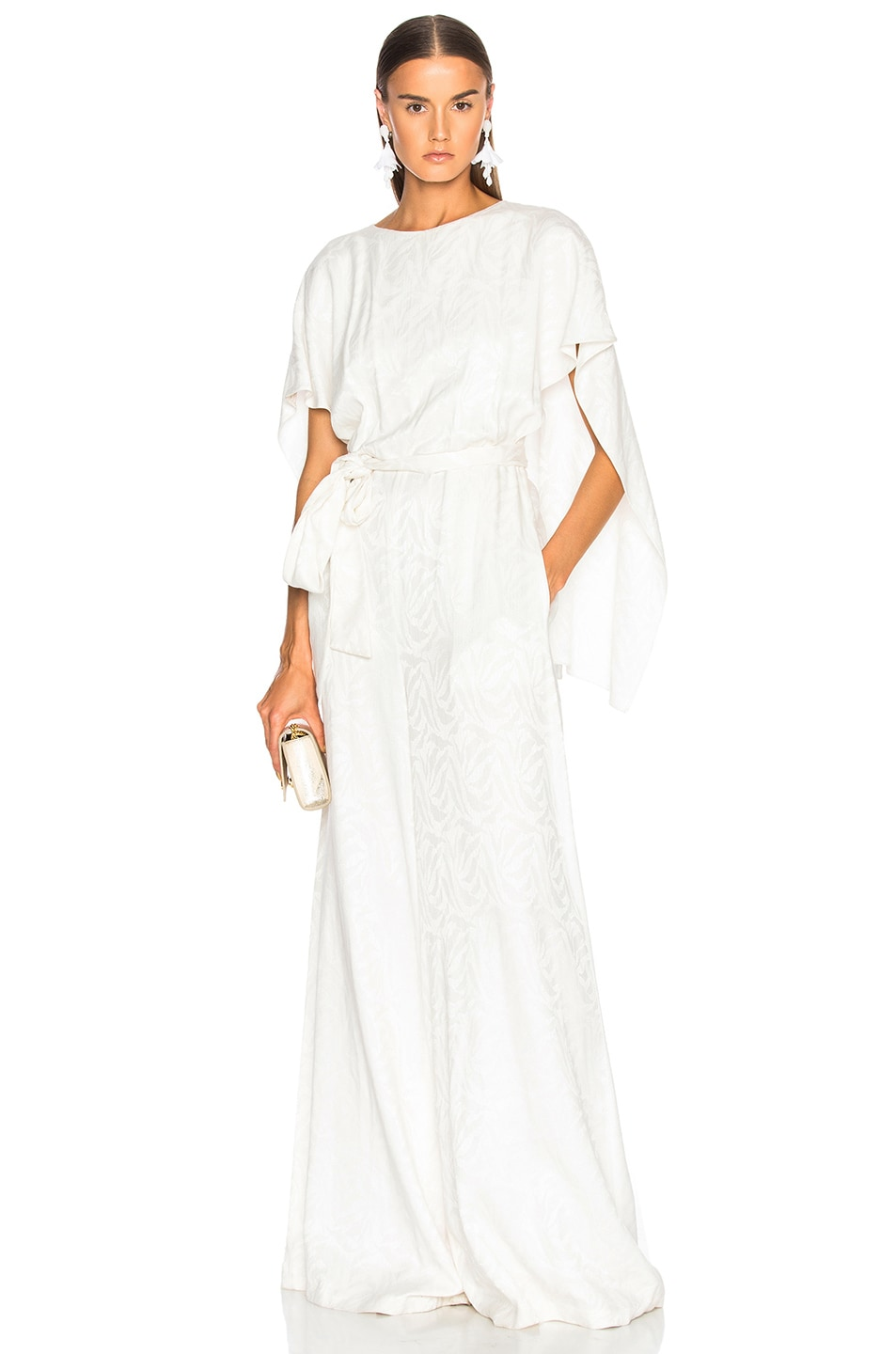 Image 1 of Sally Lapointe Cape Jumpsuit in White