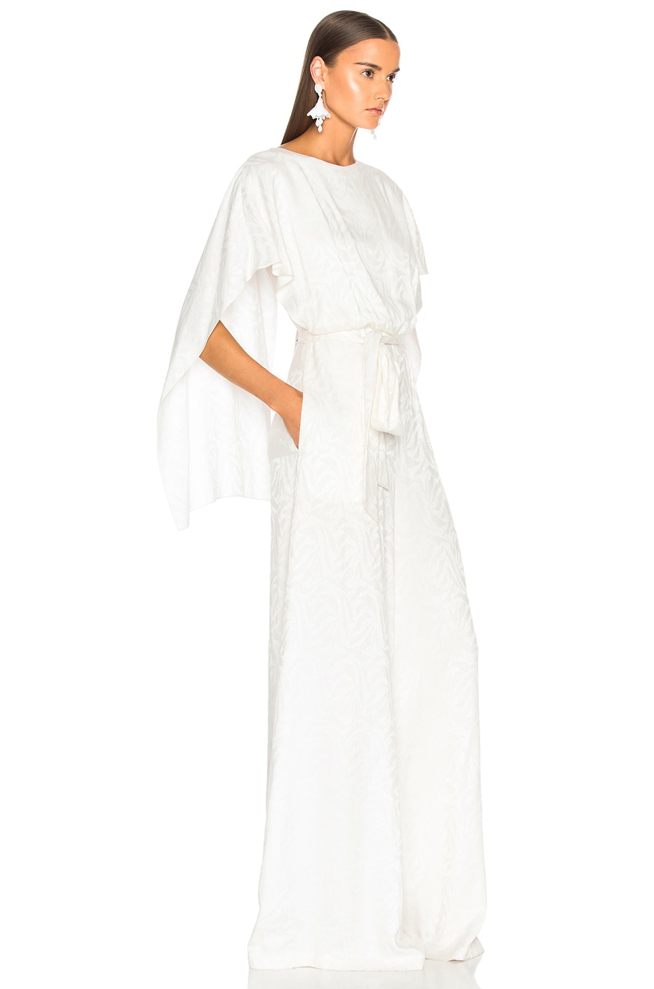 Image 2 of Sally Lapointe Cape Jumpsuit in White