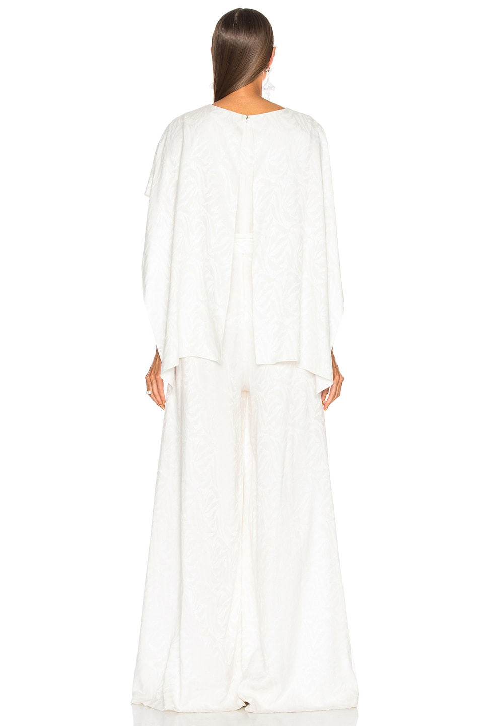 Image 3 of Sally Lapointe Cape Jumpsuit in White