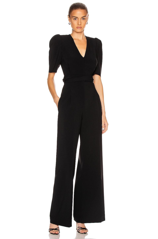 Image 1 of Stella McCartney Short Sleeve Jumpsuit in Black