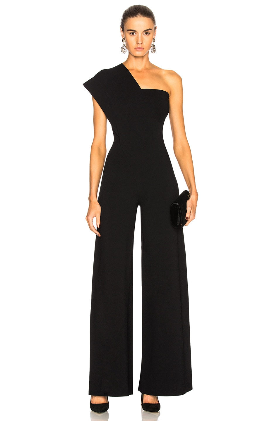 Image 1 of Stella McCartney One Shoulder Jumpsuit in Black