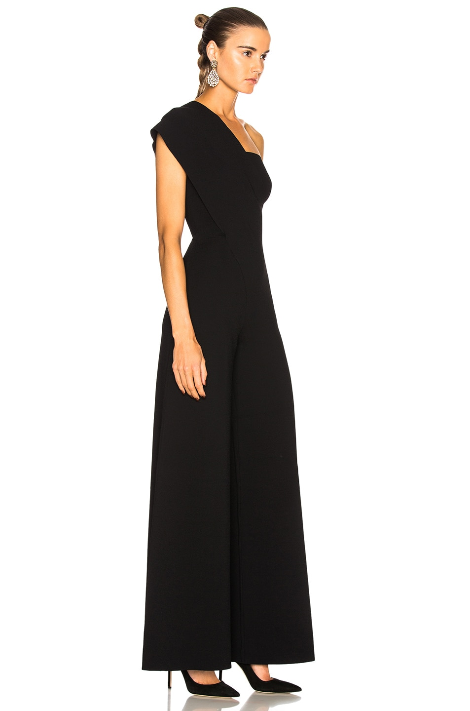 Image 2 of Stella McCartney One Shoulder Jumpsuit in Black
