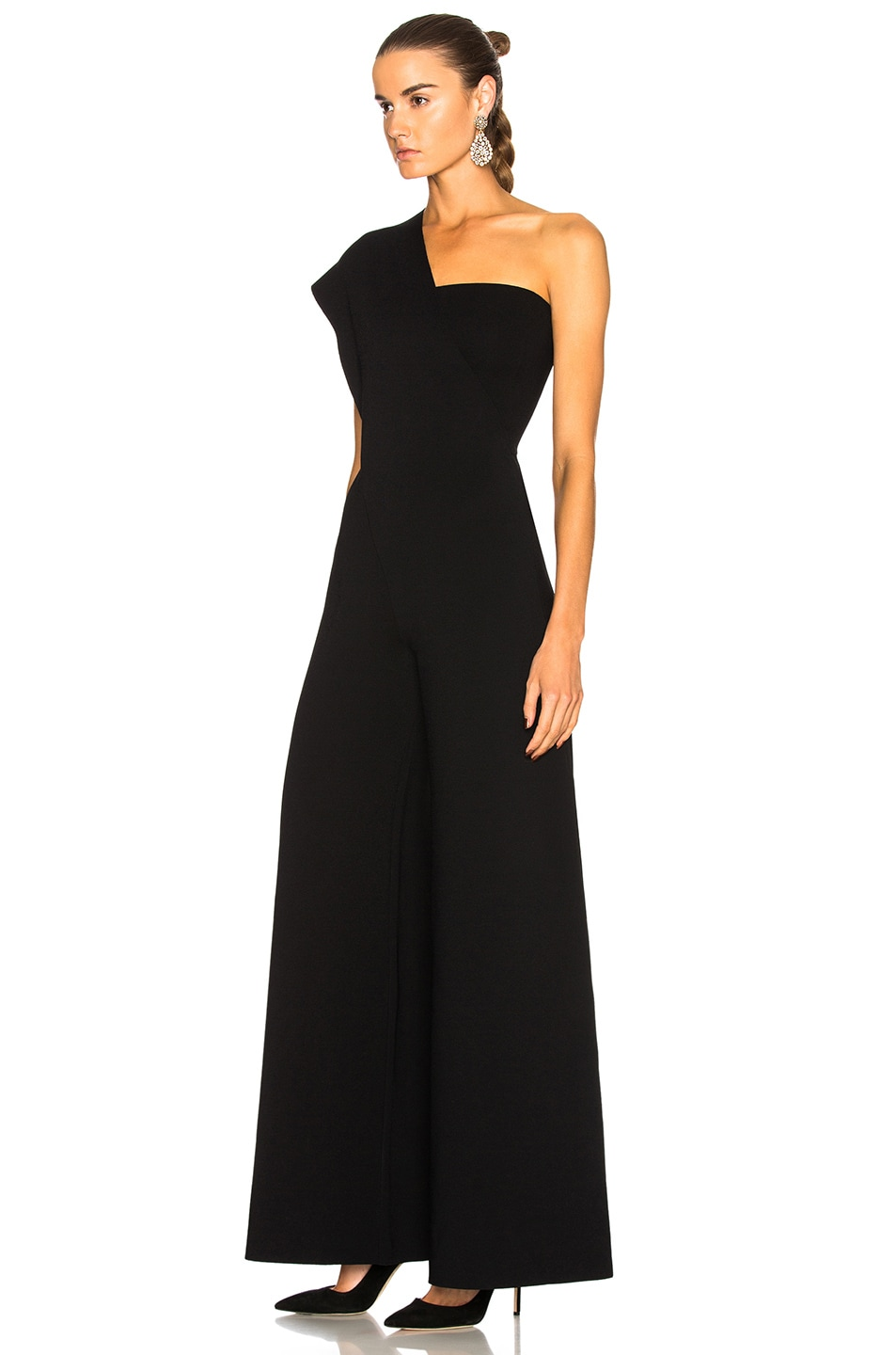 Image 3 of Stella McCartney One Shoulder Jumpsuit in Black
