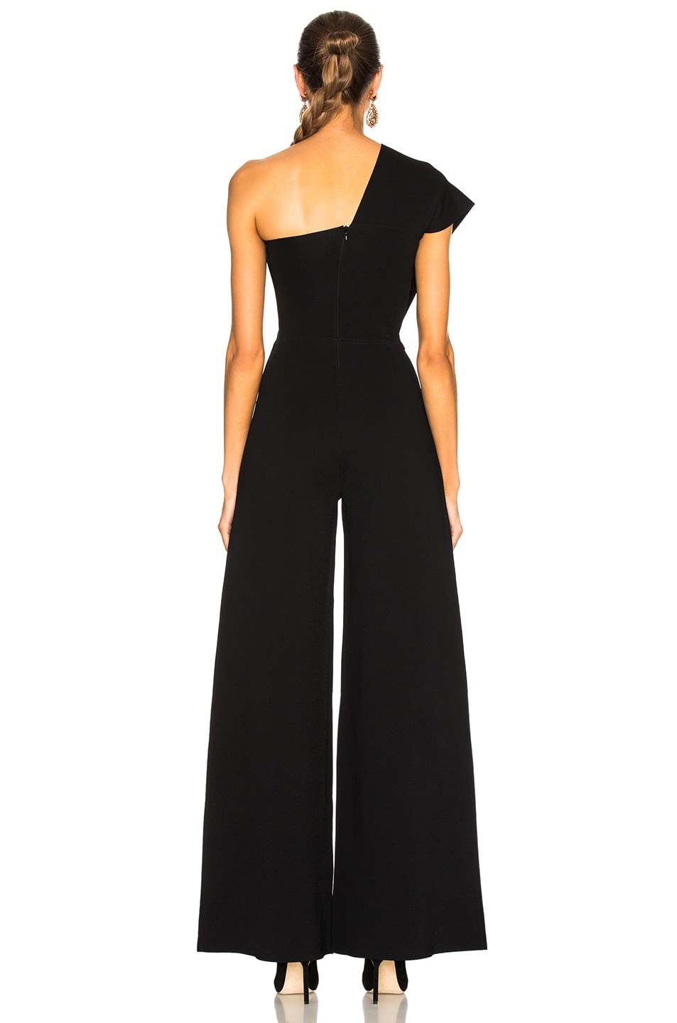 Image 4 of Stella McCartney One Shoulder Jumpsuit in Black