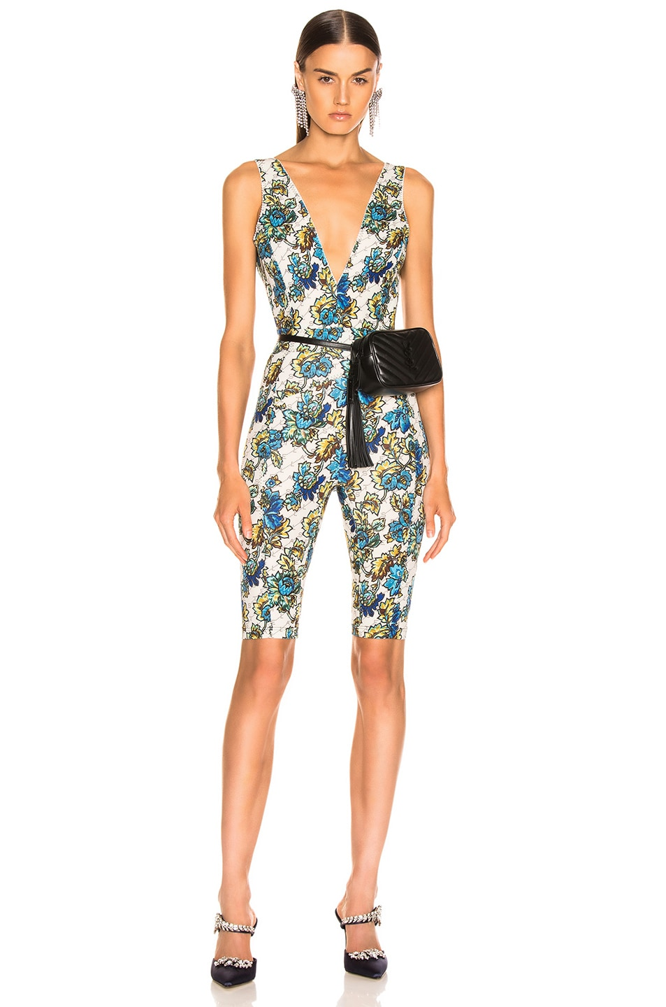 Image 1 of Stella McCartney All In One Monogram Jumpsuit in Natural
