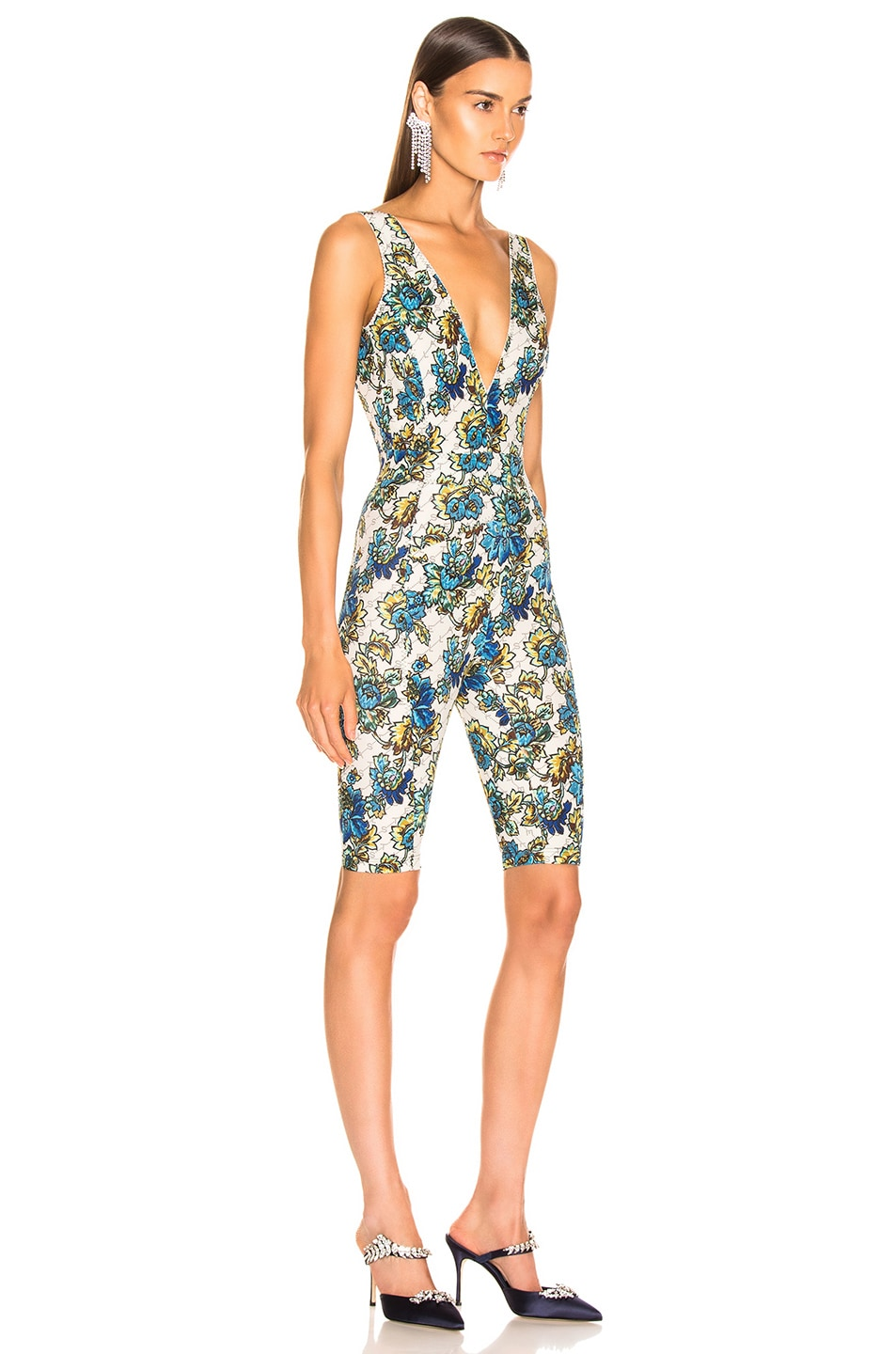 Image 2 of Stella McCartney All In One Monogram Jumpsuit in Natural