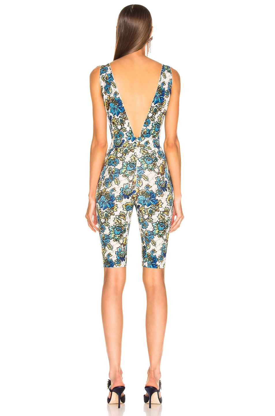 Image 3 of Stella McCartney All In One Monogram Jumpsuit in Natural