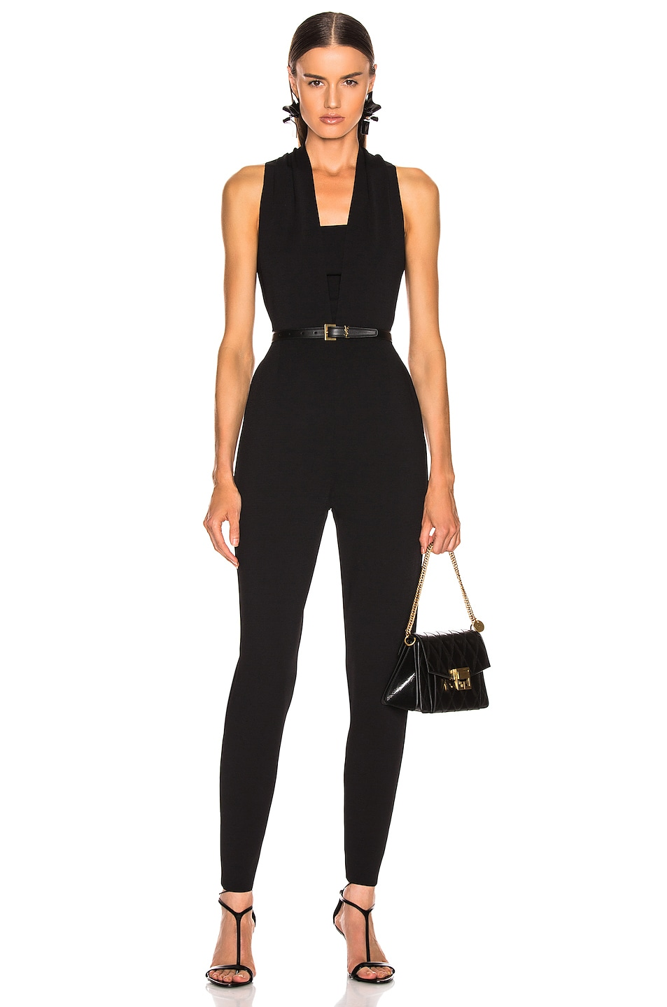 Image 1 of Stella McCartney All In One Strong Jumpsuit in Black
