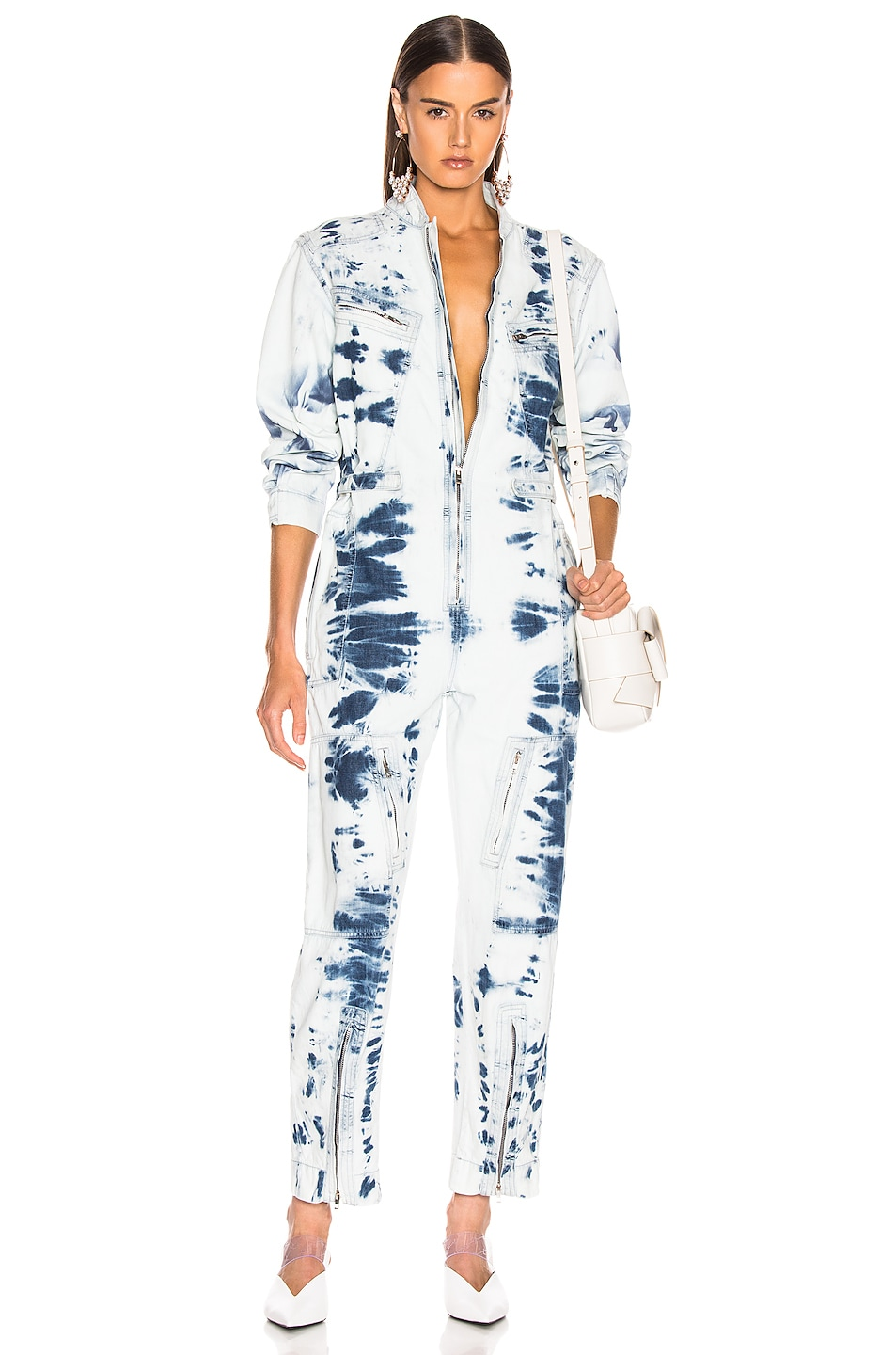 Image 1 of Stella McCartney Tie Dye Jumpsuit in Light Blue