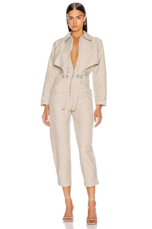 Image 1 of Stella McCartney Tuta Long Sleeve Jumpsuit in Desert Beige