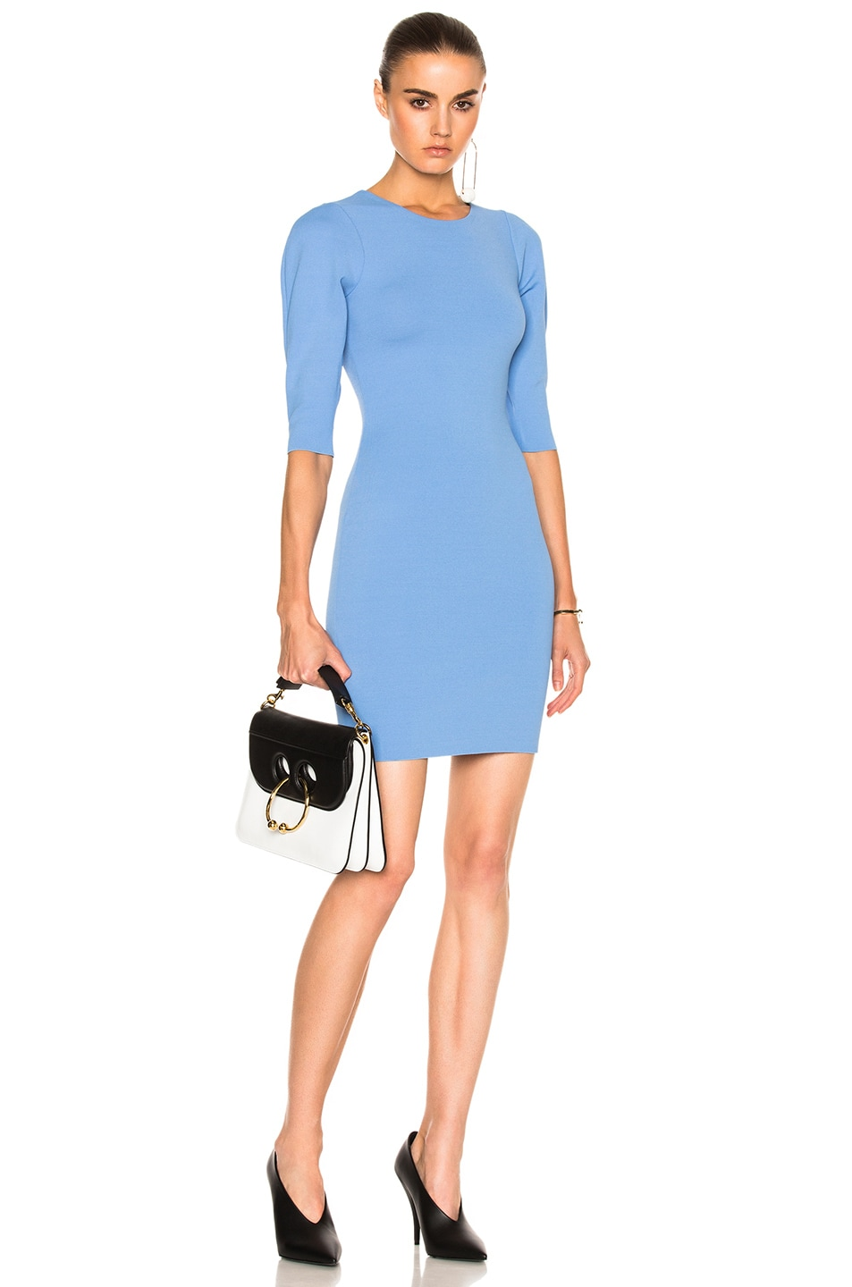 Image 1 of Stella McCartneySlashed Volume Dress in Dark Sky Blue