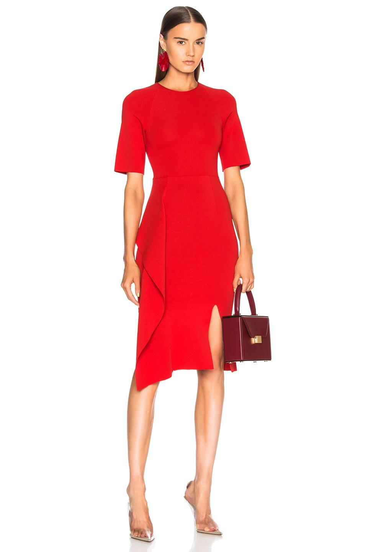 Stella McCartney Short Sleeve Midi Dress in Lipstick | FWRD