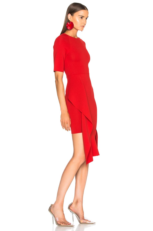 Image 2 of Stella McCartney Short Sleeve Midi Dress in Lipstick