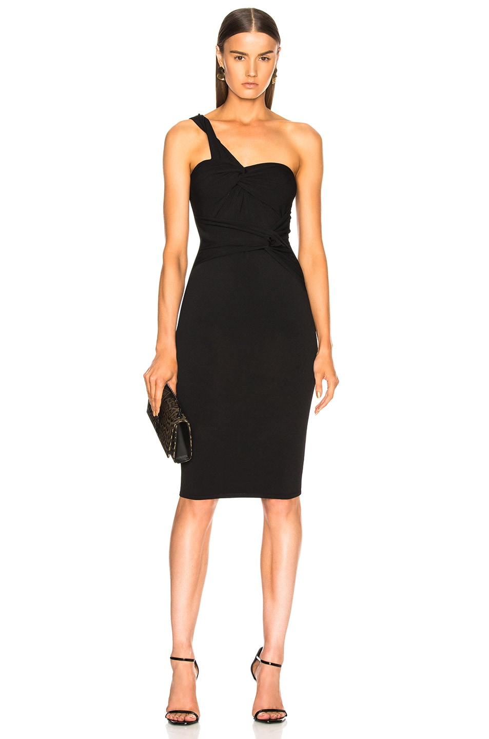 Image 1 of Stella McCartney One Shoulder Cocktail Dress in Black