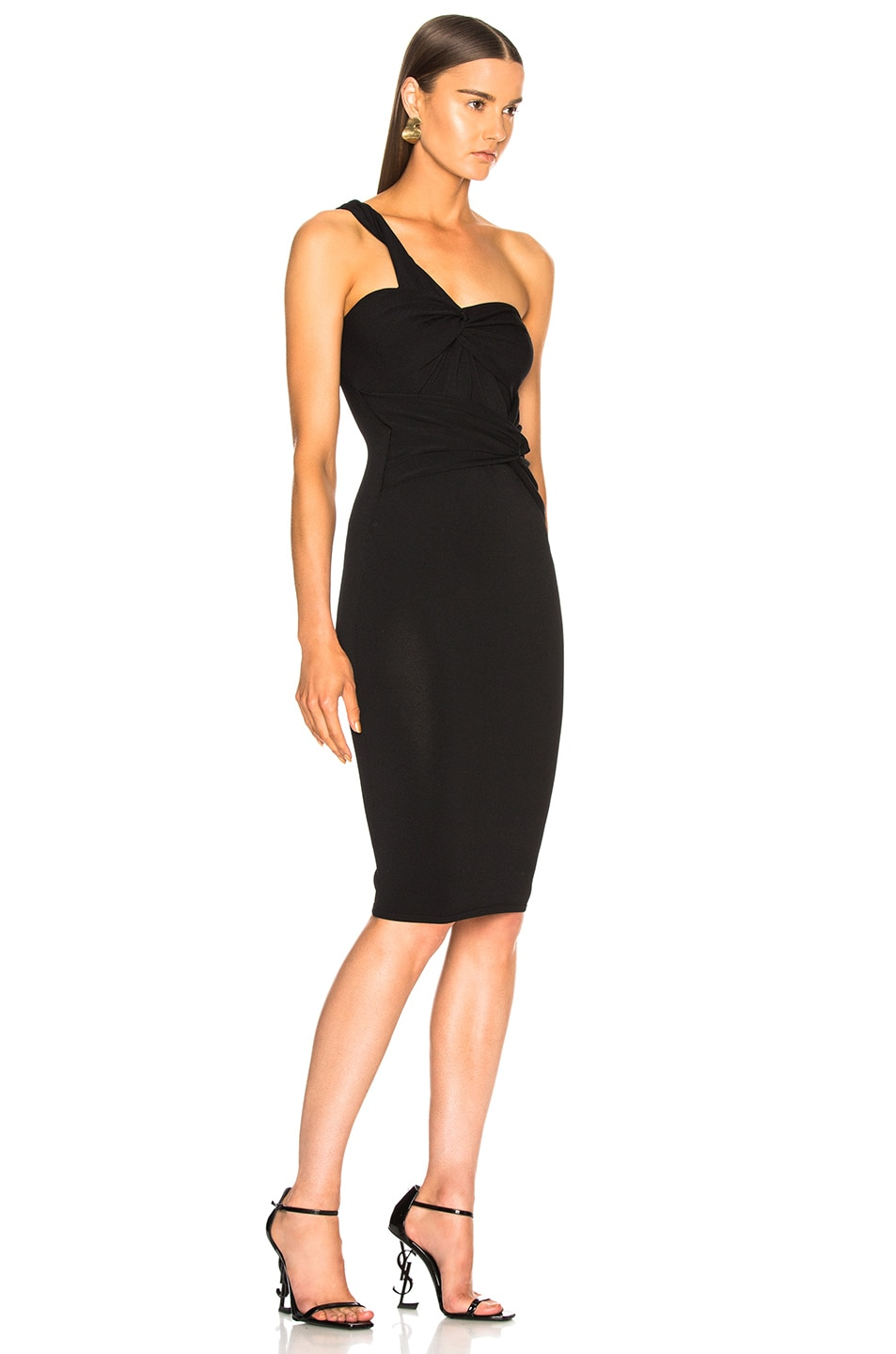 Image 2 of Stella McCartney One Shoulder Cocktail Dress in Black