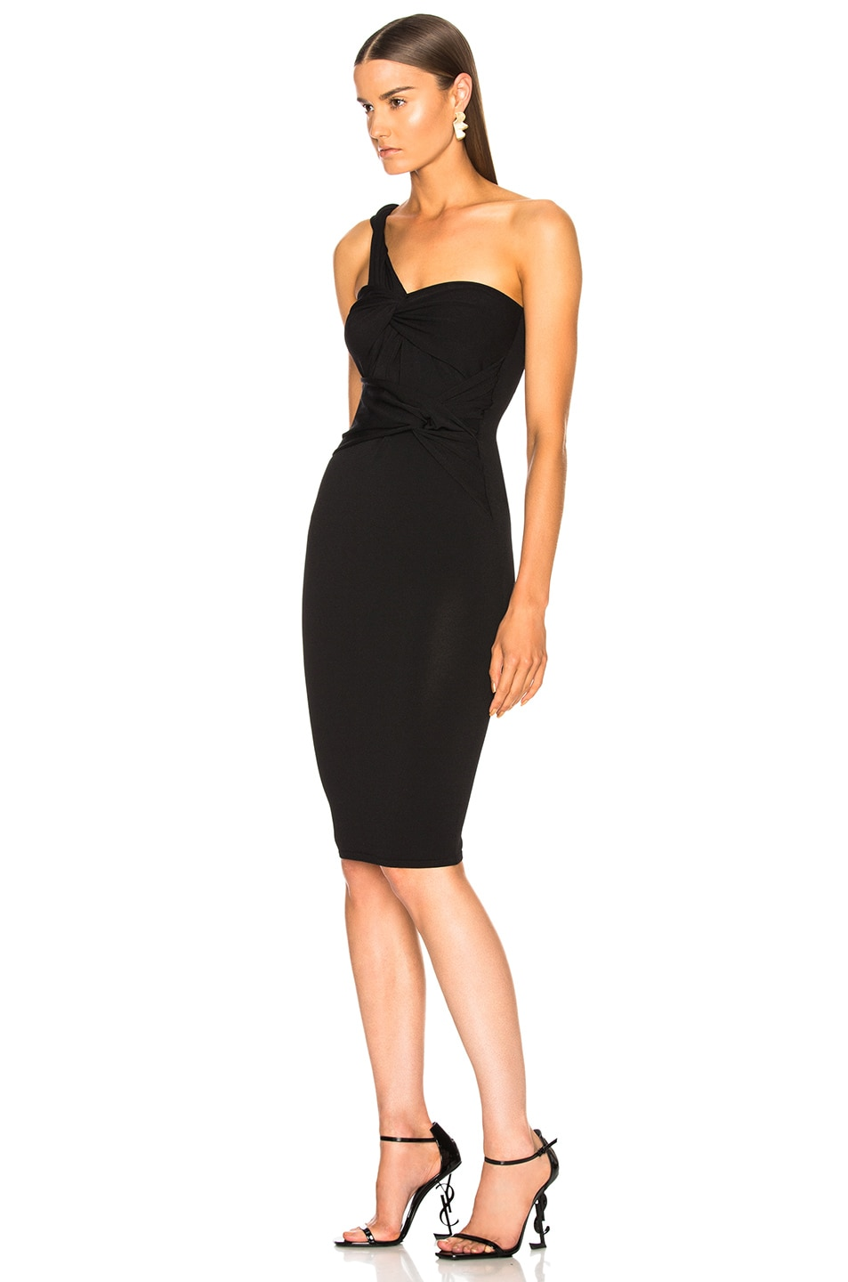 Image 3 of Stella McCartney One Shoulder Cocktail Dress in Black