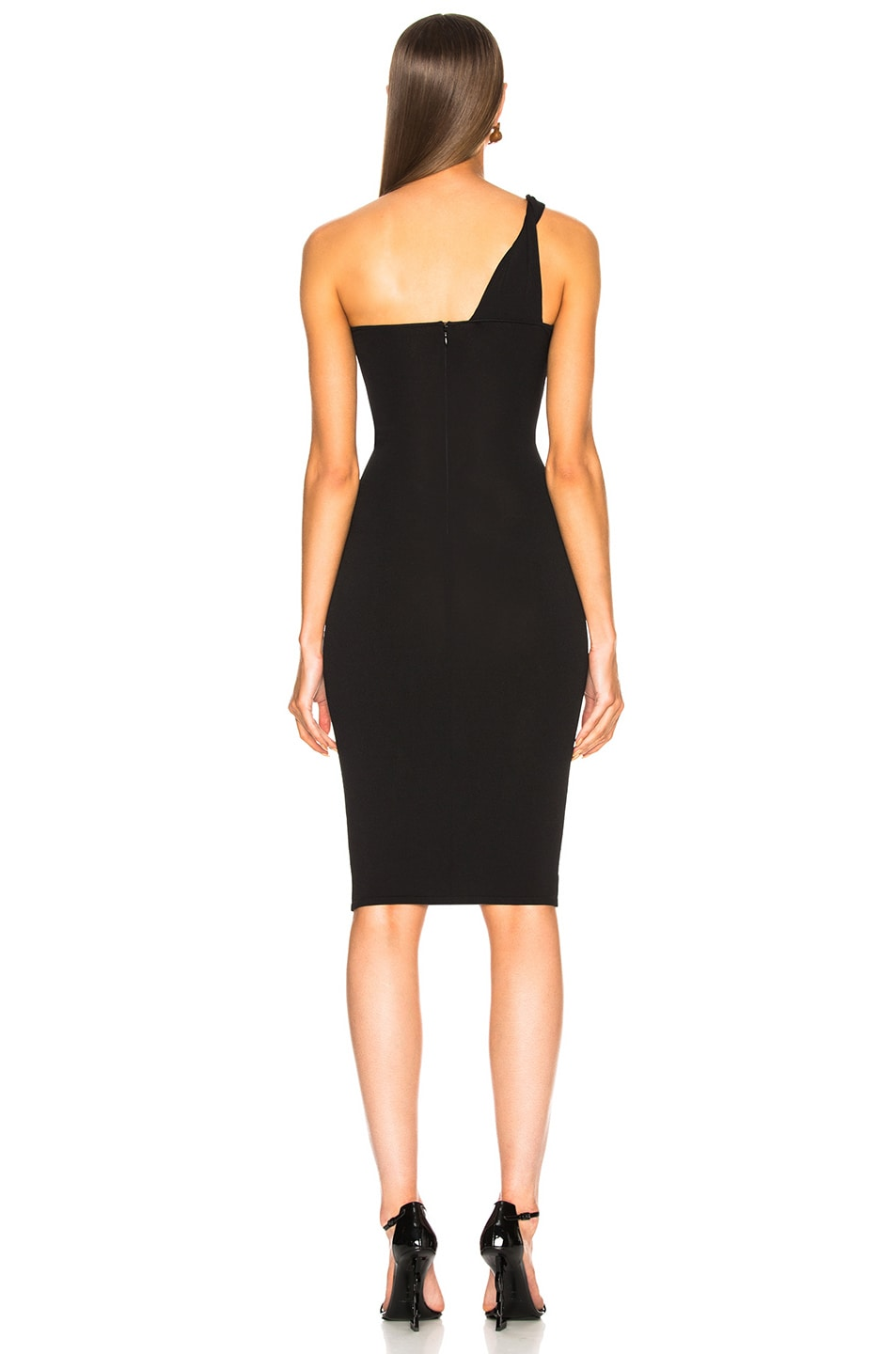 Image 4 of Stella McCartney One Shoulder Cocktail Dress in Black
