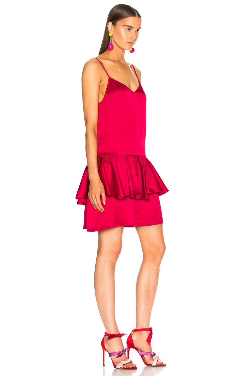 Image 2 of Stella McCartney Peplum Sleeveless Mini Dress in Fuchsia Pink