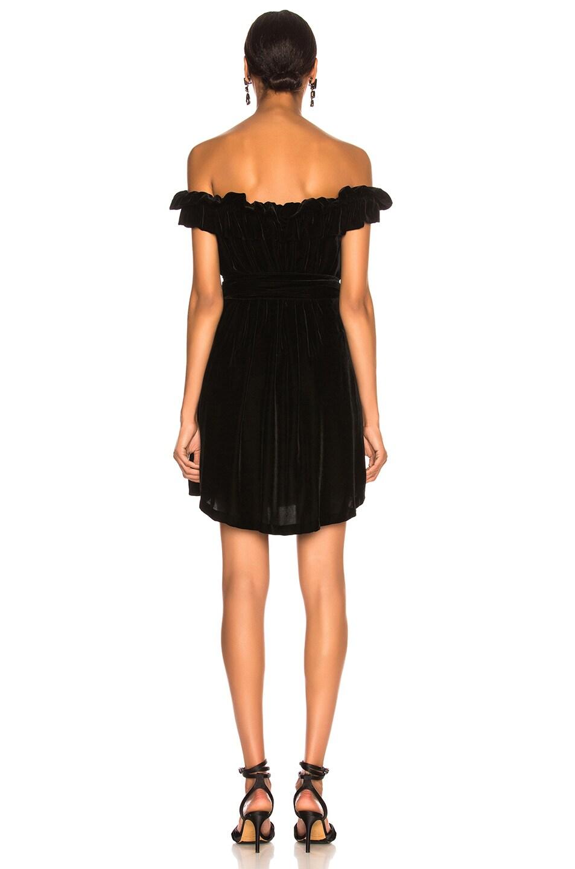 Image 3 of Stella McCartney Miya Velvet Off Shoulder Dress in Black