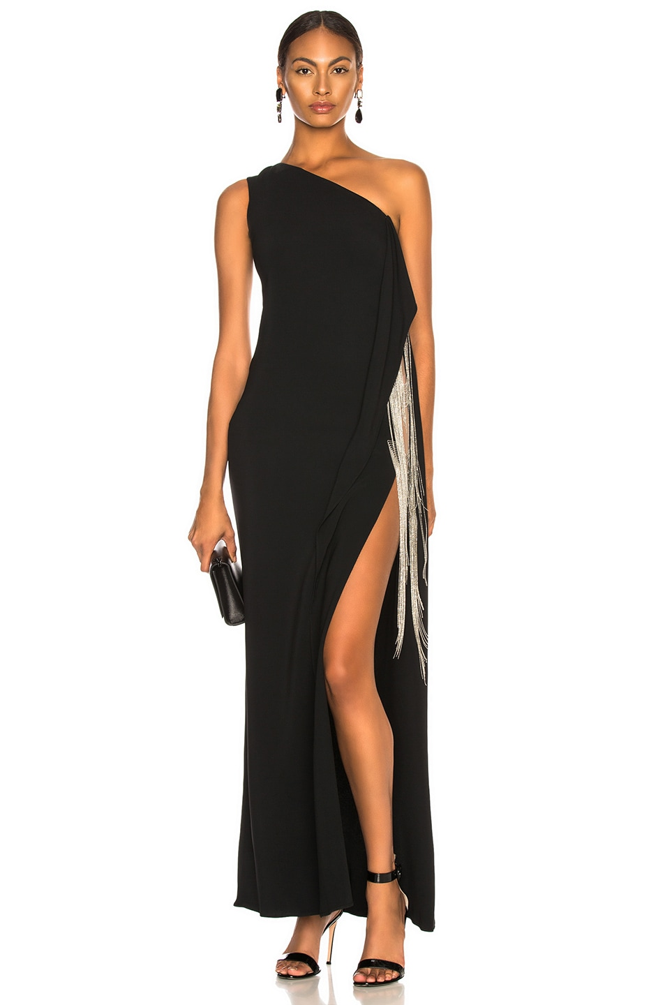 Image 1 of Stella McCartney Melody One Shoulder Gown in Black