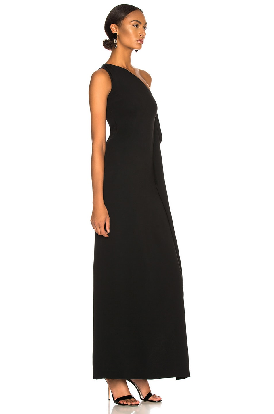 Image 2 of Stella McCartney Melody One Shoulder Gown in Black
