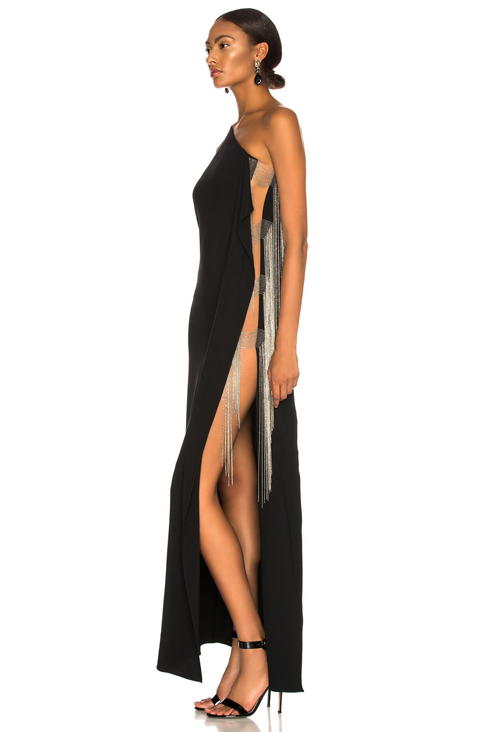 Image 3 of Stella McCartney Melody One Shoulder Gown in Black
