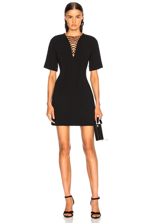 Image 1 of Stella McCartney Lace Up Mini Dress in Black