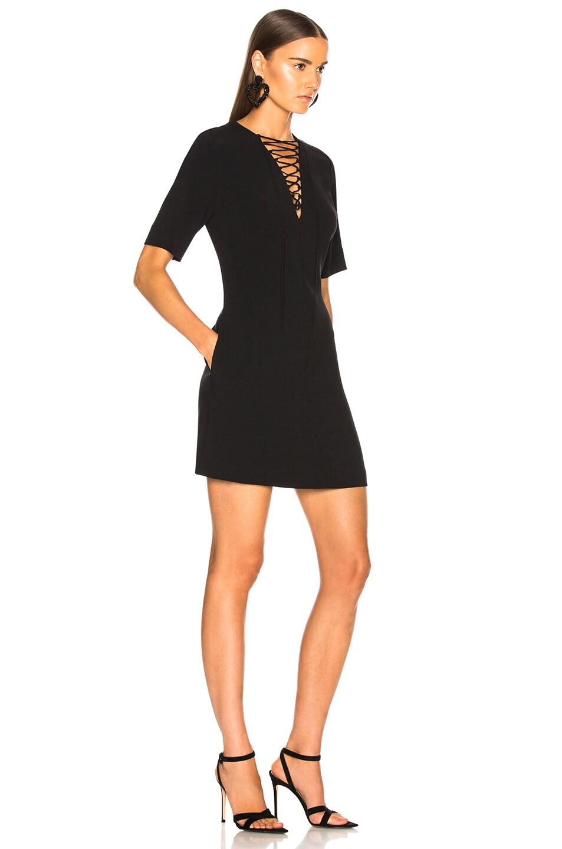 Image 2 of Stella McCartney Lace Up Mini Dress in Black