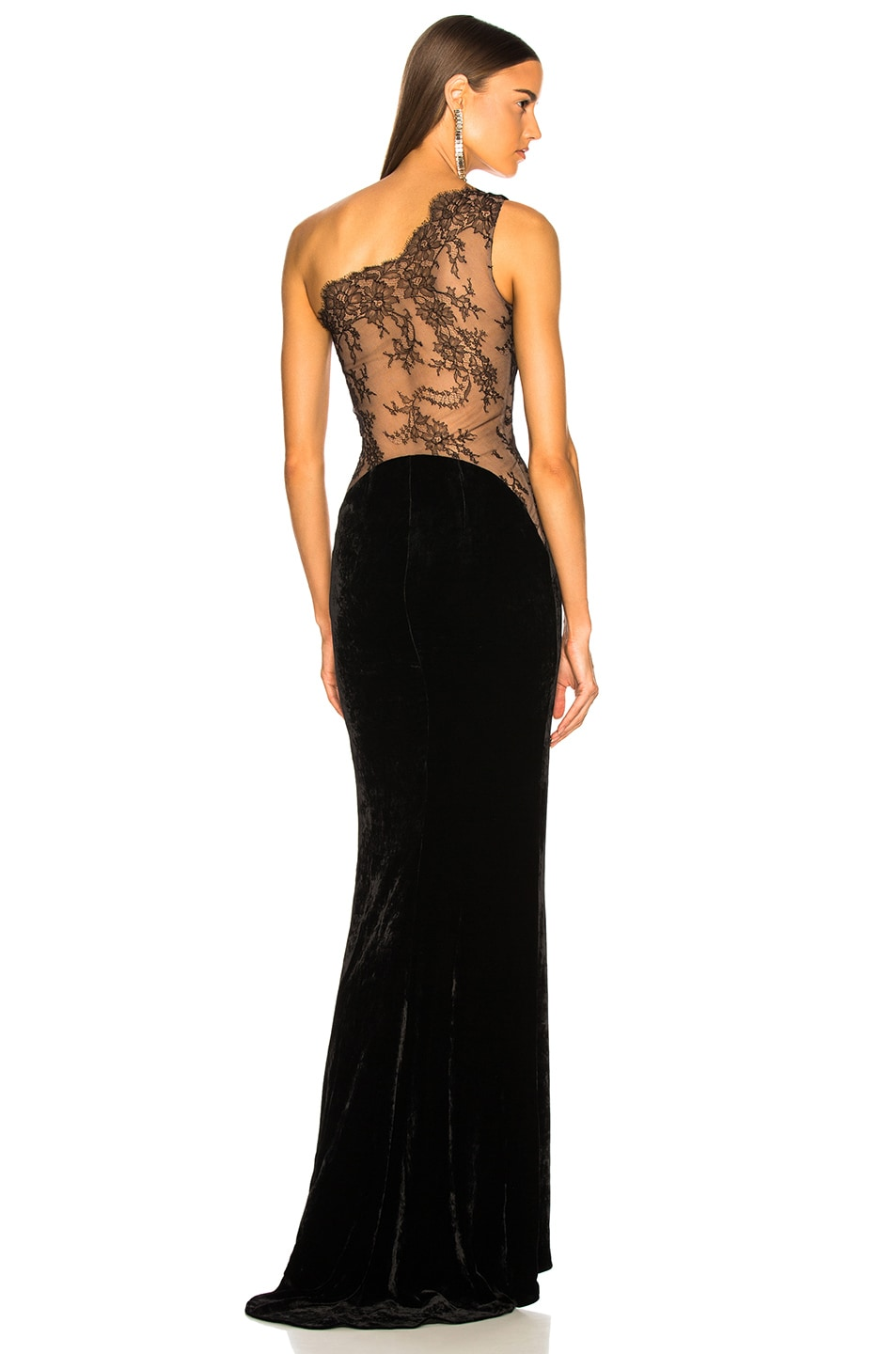 Image 1 of Stella McCartney One Shoulder Gown in Black