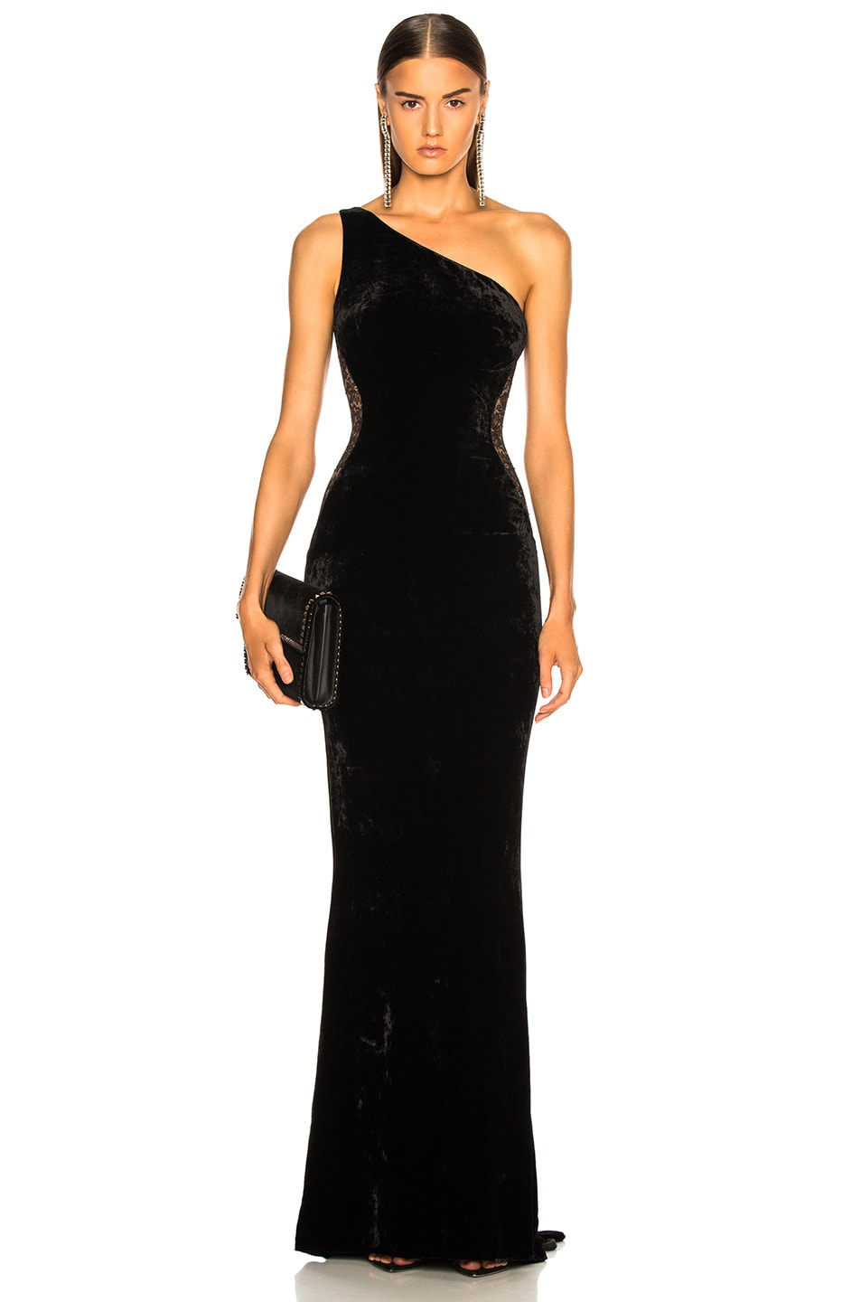 Image 2 of Stella McCartney One Shoulder Gown in Black