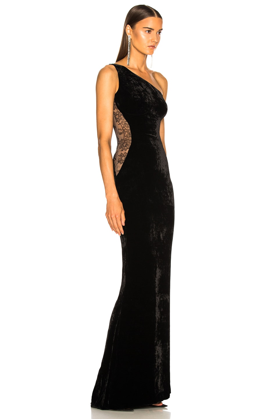 Image 3 of Stella McCartney One Shoulder Gown in Black