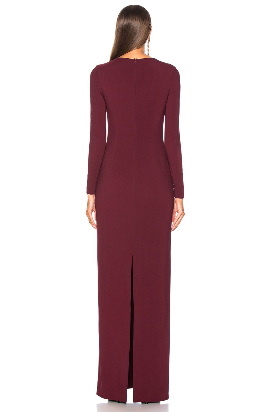 Image 3 of Stella McCartney Lace Up Maxi Dress in Bordeaux
