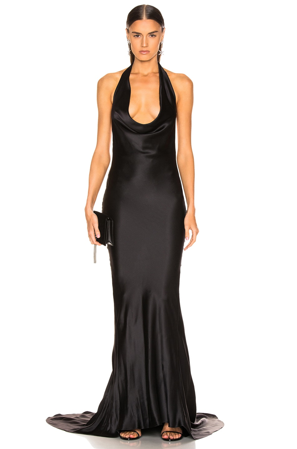 Image 1 of Stella McCartney Plunging Dress in Black