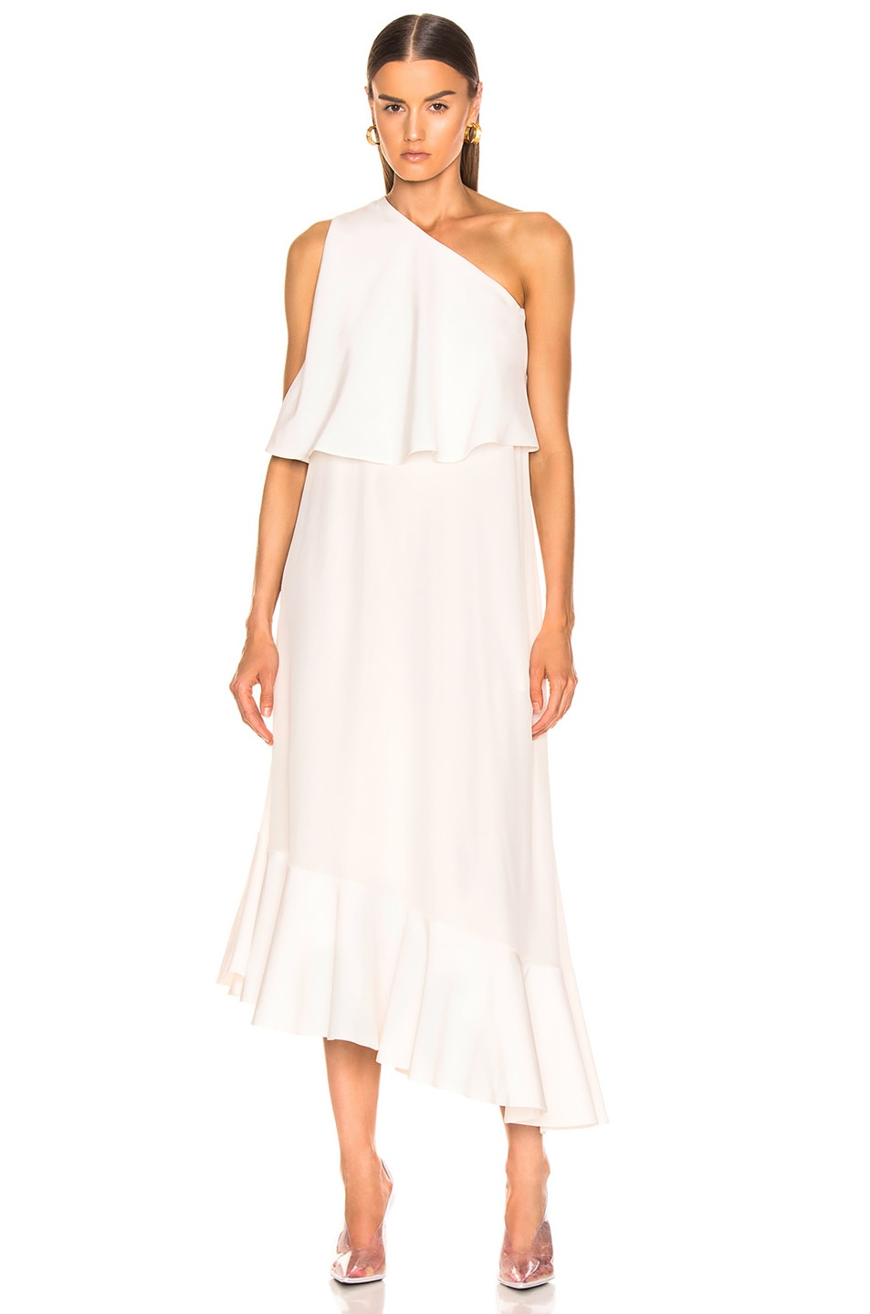 Image 2 of Stella McCartney One Shoulder Dress in White