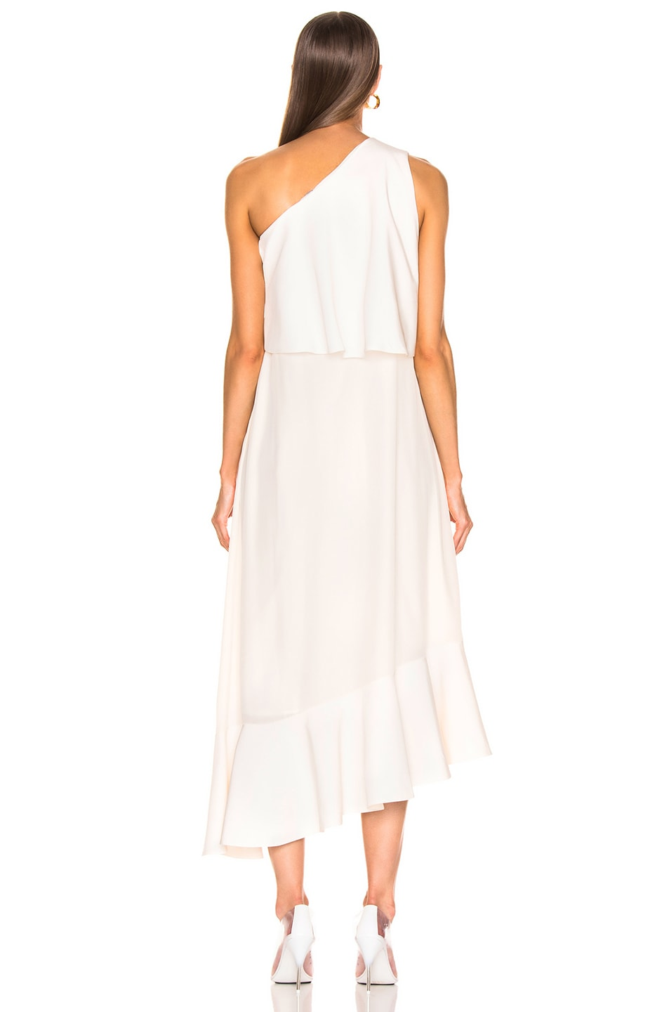 Image 4 of Stella McCartney One Shoulder Dress in White