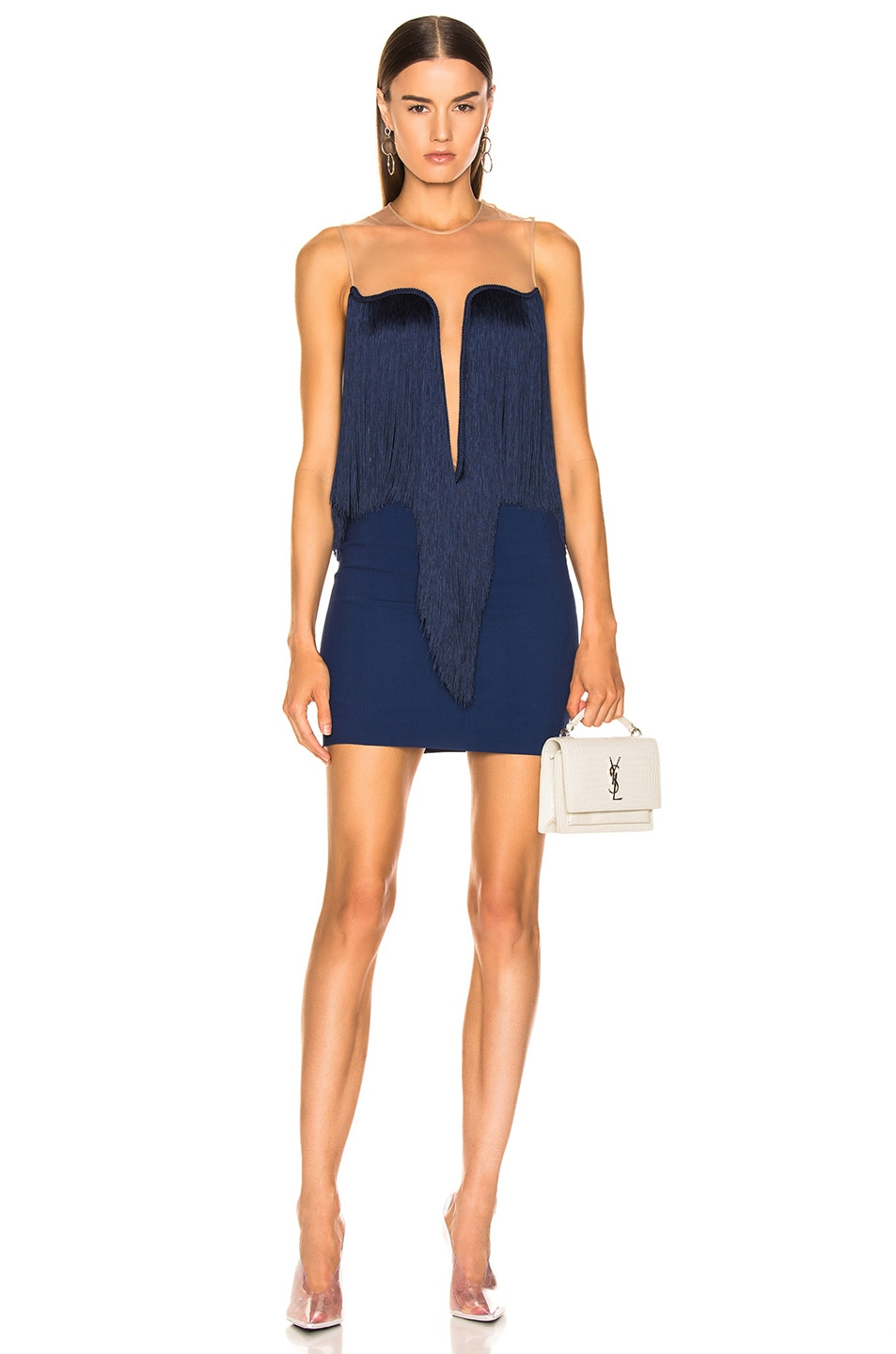 Image 1 of Stella McCartney Fringe Dress in Blue Note