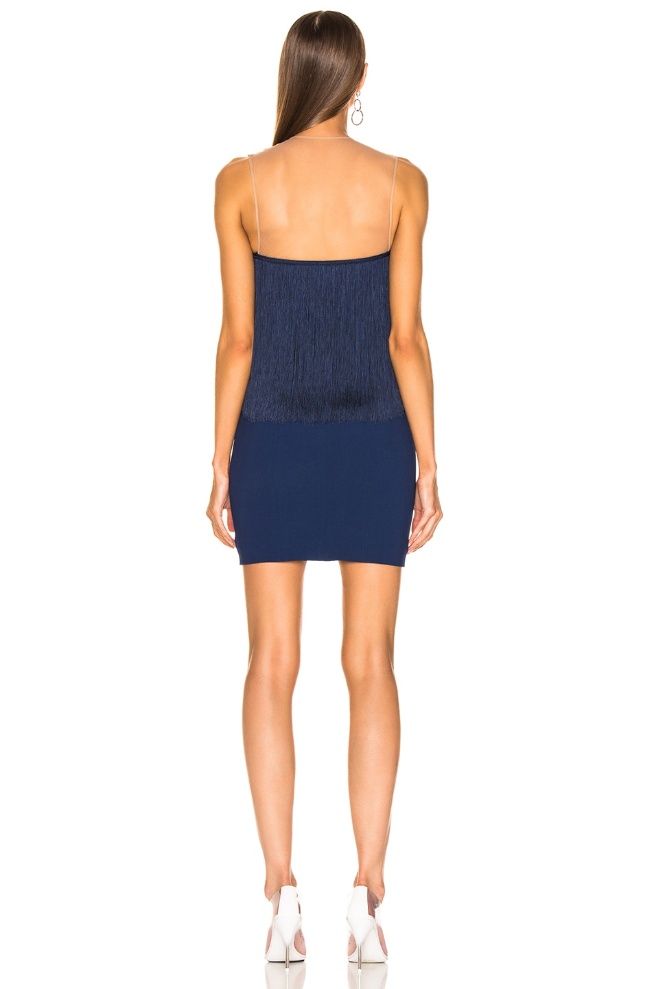 Image 3 of Stella McCartney Fringe Dress in Blue Note