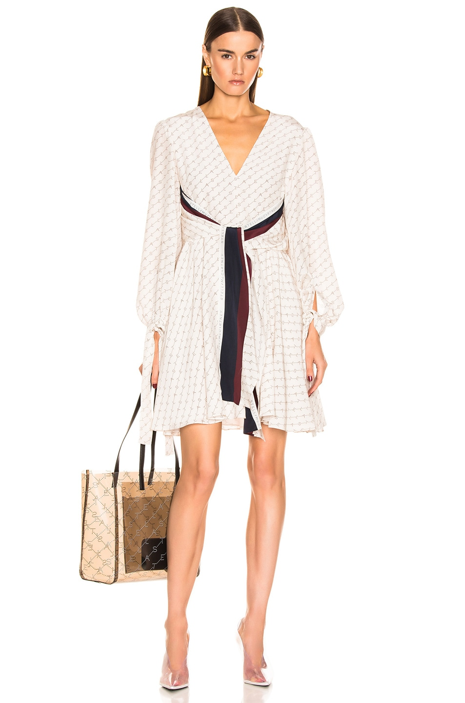 Image 1 of Stella McCartney Long Sleeve Mini Dress in Natural