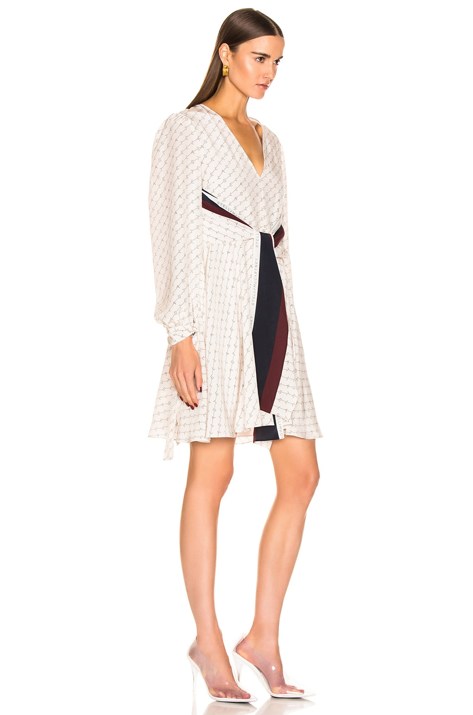 Image 2 of Stella McCartney Long Sleeve Mini Dress in Natural