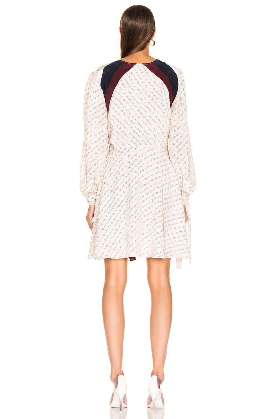 Image 3 of Stella McCartney Long Sleeve Mini Dress in Natural