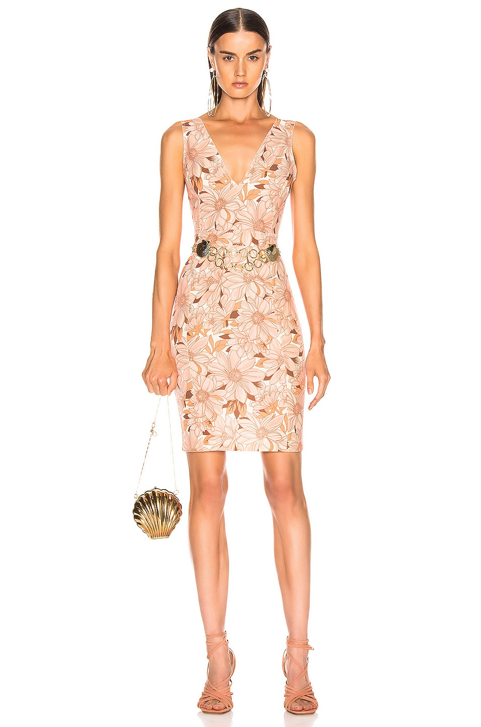 Image 1 of Stella McCartney Bloomer Floral Dress in Multicolor Orange
