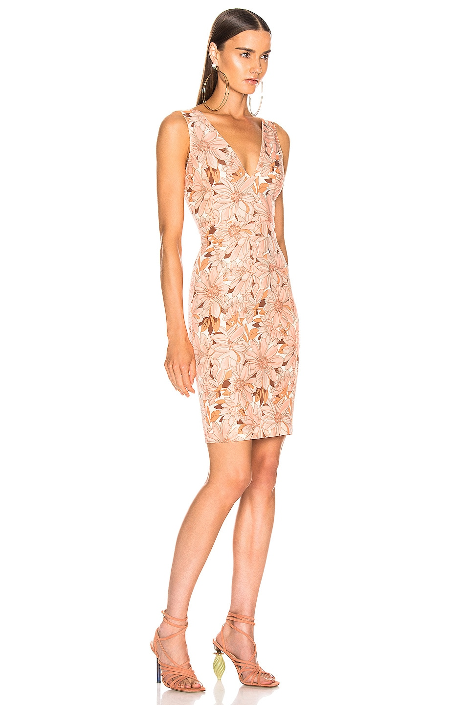 Image 2 of Stella McCartney Bloomer Floral Dress in Multicolor Orange