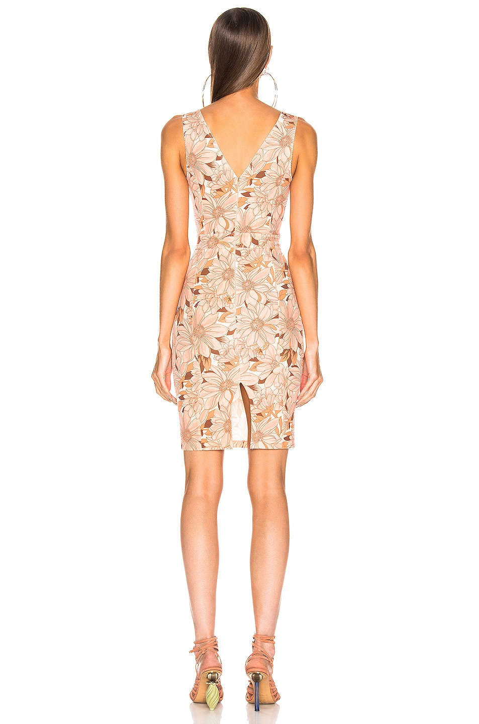 Image 3 of Stella McCartney Bloomer Floral Dress in Multicolor Orange