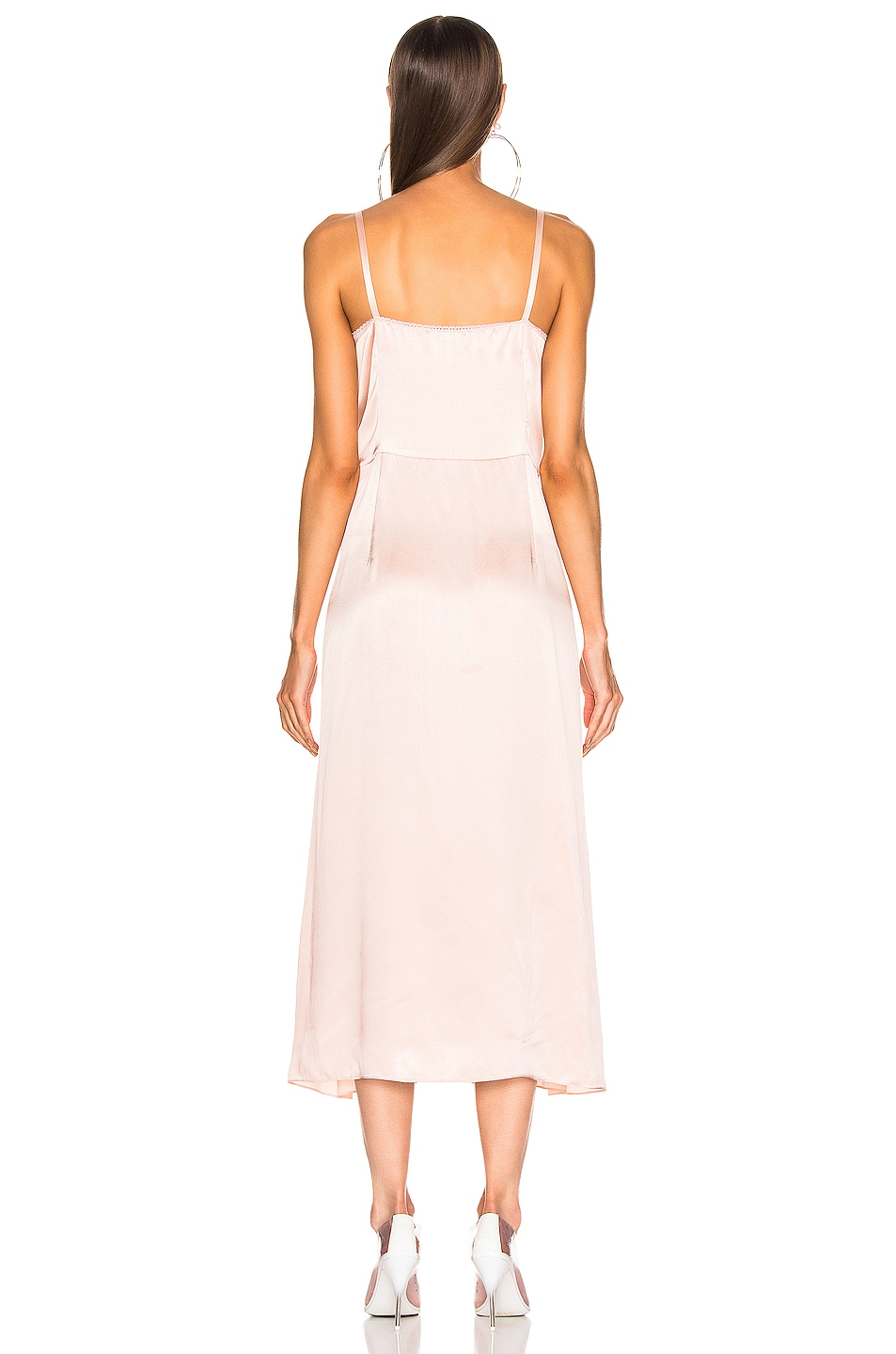 Image 3 of Stella McCartney Silk Satin Midi Dress in Chalk Pink