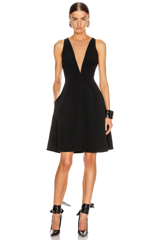 Image 1 of Stella McCartney Parkes Evening Deep V Dress in Black
