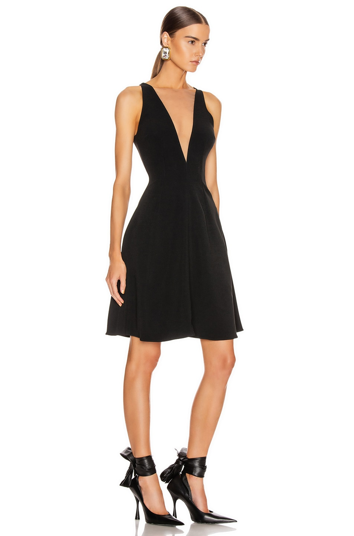Image 2 of Stella McCartney Parkes Evening Deep V Dress in Black