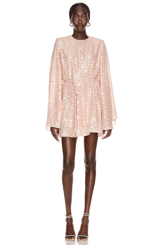 Image 1 of Stella McCartney Delia Long Sleeve Mini Dress in Ballet Pink