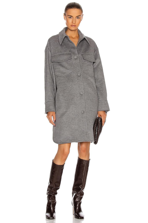 Image 1 of Stella McCartney Kerry Coat Dress in Light Grey Melange